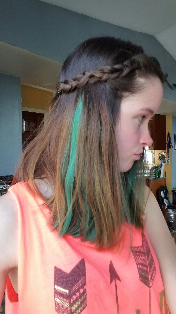 1000 ideas about green hair streaks on pinterest teal