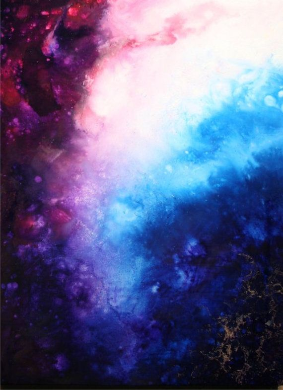 """Unique Fluid Huge Abstract Painting. Free Shipping.Contemporary Blue andRed. By Igor Turovskiy """"Platinum Galaxy"""""""