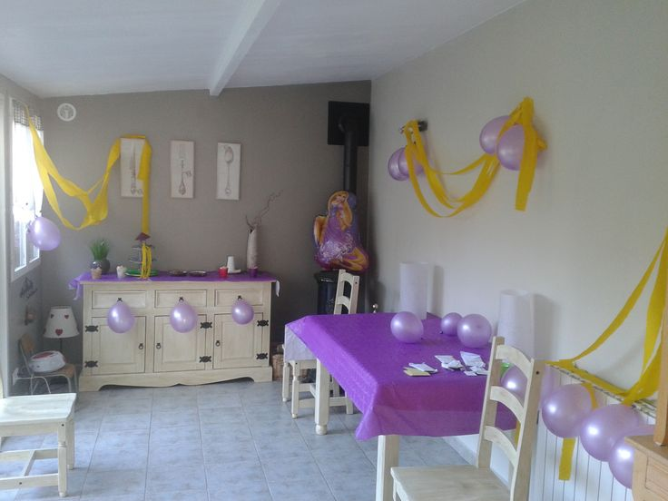 D co salle anniversaire raiponce raiponce pinterest - Deco salle anniversaire ...
