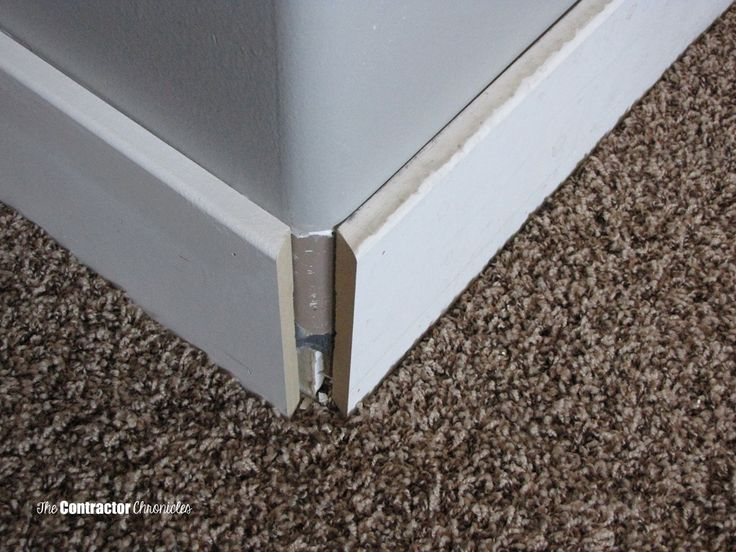 How To Cut Baseboard For A Rounded Corner The Contractor