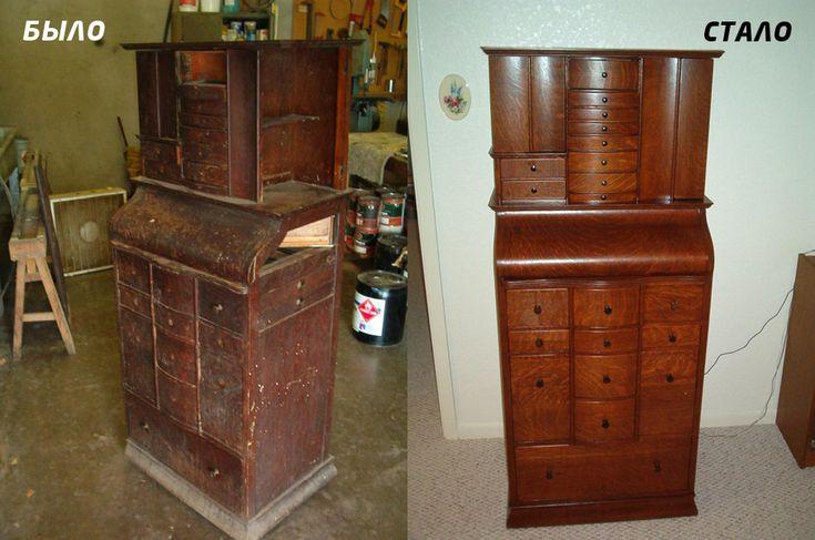 Как отреставрировать старый шкаф своими руками фото