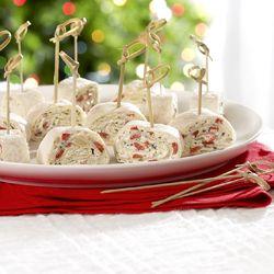 Miniwraps met pesto van paprika en geitenkaas