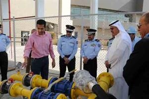 Kuwait Fire Department chief in the gas plant of the Avenuse mall