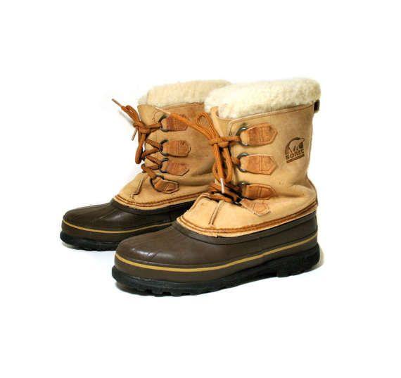 Women's Vintage Sorel Winter Boots, Canadian Boots, Snow Boots, Sorel Boots, Sorels With Felts, Size 8