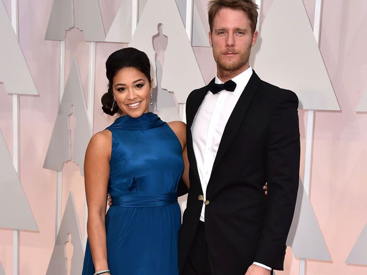 """American Sniper's Jake McDorman in a tuxedo designed by Tingting Chen. Composed of 100 percent deadstock wool, the jacket also featured a lining derived from 100 percent GOTS-certified deadstock peace silk and a logwood-dyed peace silk trim. McDorman topped—and bottomed—his ensemble with Brave GentleMan's animal-friendly """"Innovator"""" shoe (courtesy of NYC vegan footwear retailer MooShoes), an EkoCycle shirt made from recycled plastic bottles, and hemp boxers."""