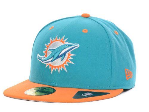 Miami Dolphins New Era NFL 2 Tone 59FIFTY Cap Hats