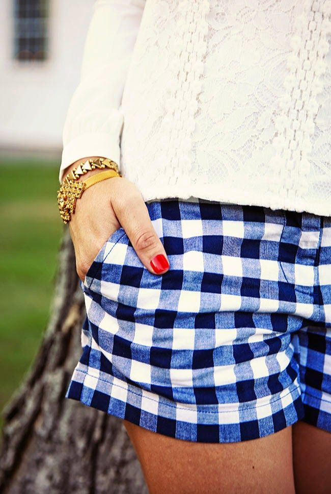 #Gingham Shorts Inspiration // J'adore J.Crew Tumblr - #Preppy