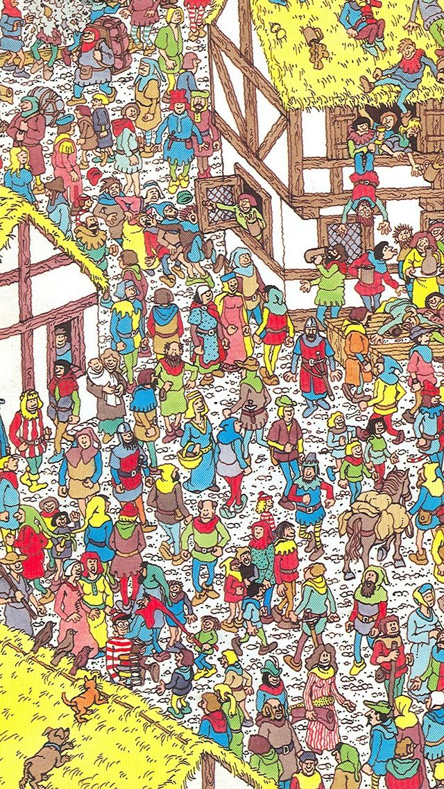 Can you find him? Where's Wally. Where's Waldo.