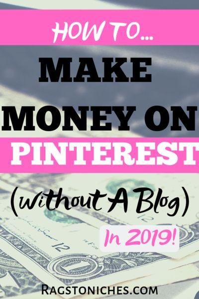 Pinterest Affiliate Marketing, (ohne Blog!) JA! JA WIRKLICH! – Lumpen in die Nische  – Make Money With Pinterest Easily!