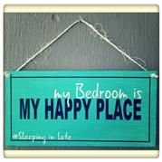 Happy Place Sign. Bedroom