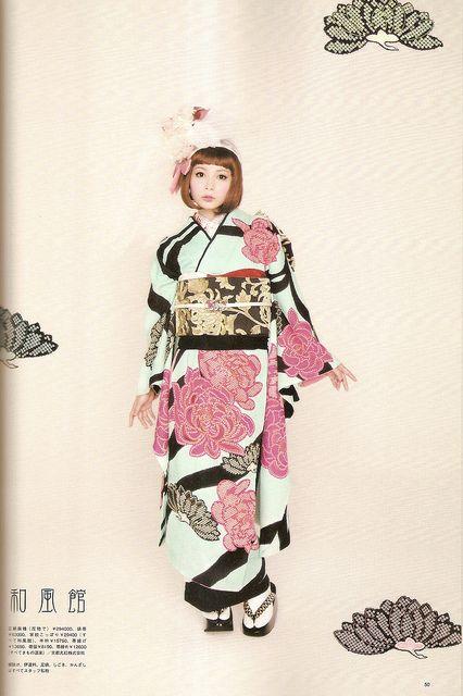 Kimono-hime issue 10. Fashion shoot page 50. by Satomi Grim, via Flickr