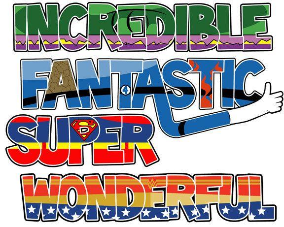 super hero words
