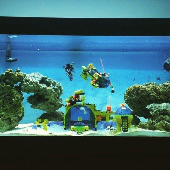 18 best images about lego aquarium on pinterest pvc for Idee deco aquarium
