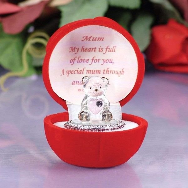 I LOVE YOU RED ROSE LOVE Gift@HEART SHAPED Glass Plaque@SPECIAL FIANCEE keepsake