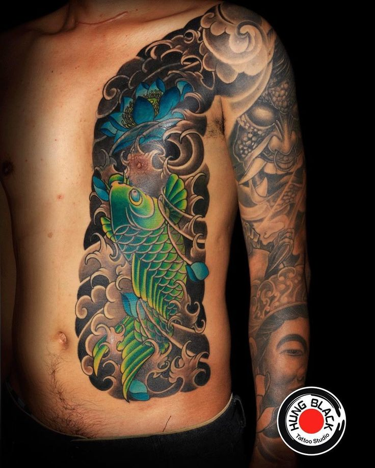 Photo by (hung.black.tattoo) on Instagram |  #cover, #izerumi, #japanesetattoo, #haiphong, #vietnam