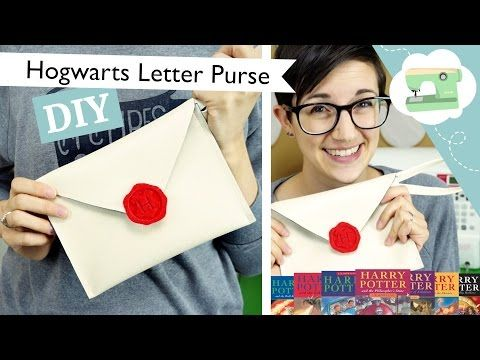 Hogwarts Letter Purse - A DIY Envelope Clutch | @laurenfairwx - YouTube