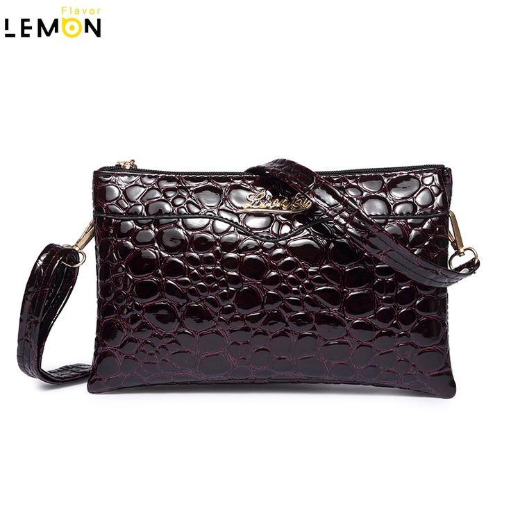 2016 мода новый твердый аллигатор женщины марка женщин кожаная сумочка винтаж кроссбоди мешок для женщин A1597