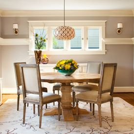 Craftsman dining room by Garrison Hullinger Interior Design Inc. featuring a Surya Athena Rug in the perfect neutral warm shade. (ATH-5008)