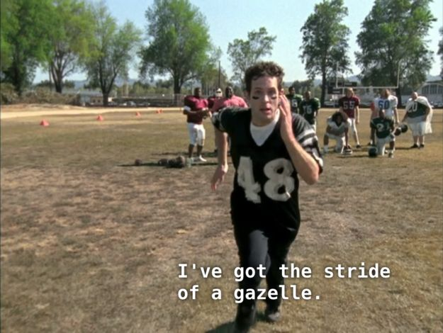 """When he had this inner monologue. 