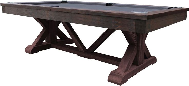 The Brazos River 8' slate pool table is part of the Fairfield Collection of game tables by Playcraft. Whether your choice is a timeless Chestnut or Espresso finish, or a distressed weathered Black, Barn, or Brown that appears to have been reclaimed from a century old countryside barn, the Brazos is certain to make a statement. | eBay!