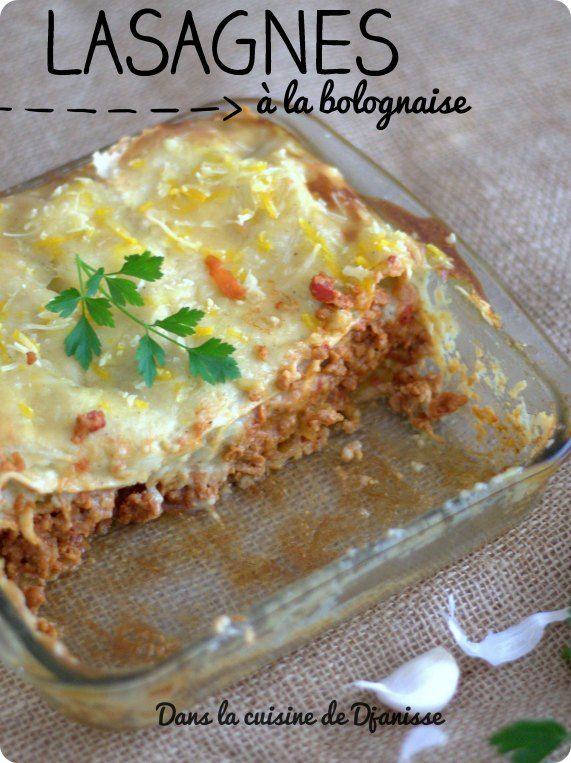 Vegan bolognese lasagnas