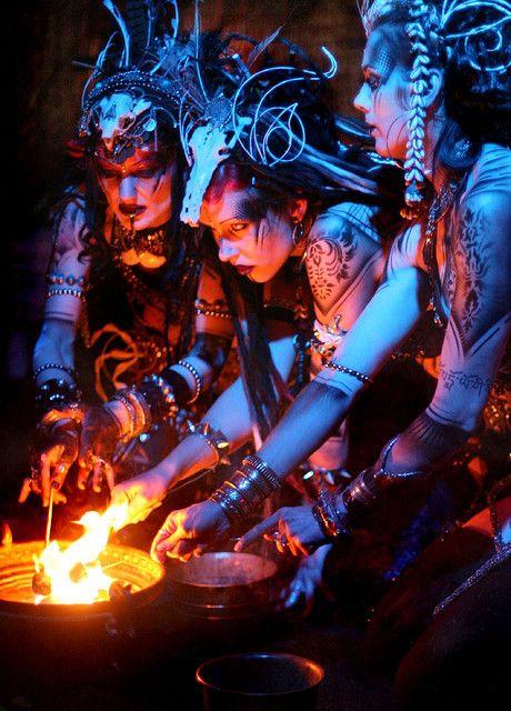 Serpentine Bellydance- Lucretia Renee, Aradia Sunseri, and Nagasita.