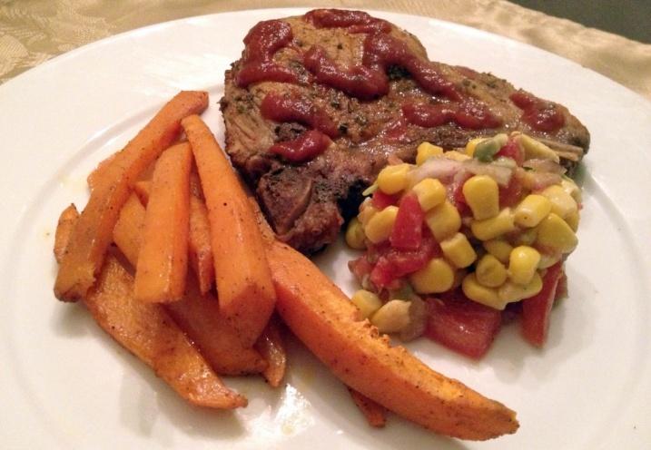 Texas-Caribbean Marinated Pork Chops via @mochadad #manwich