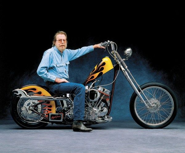 David Mann on motorcycle