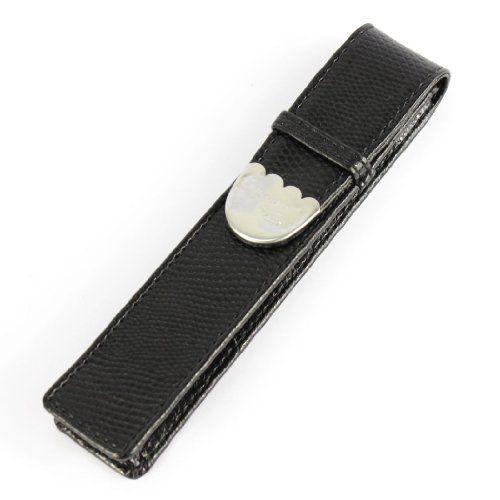 Plus populaire cas de crocodile peau exquise sculpture de modèle en cuir de stylo caisse noire de cadeau de stylo accueille plume unique