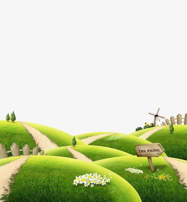 العشب الاخضر في الحديقة الخلفية Green Kids Frames Lawn