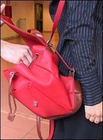 Purse- backpack style, easy to pickpocket