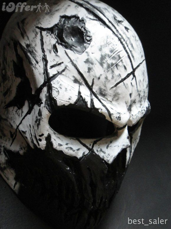 White Scar Mask (left view) by ColdBlood Art