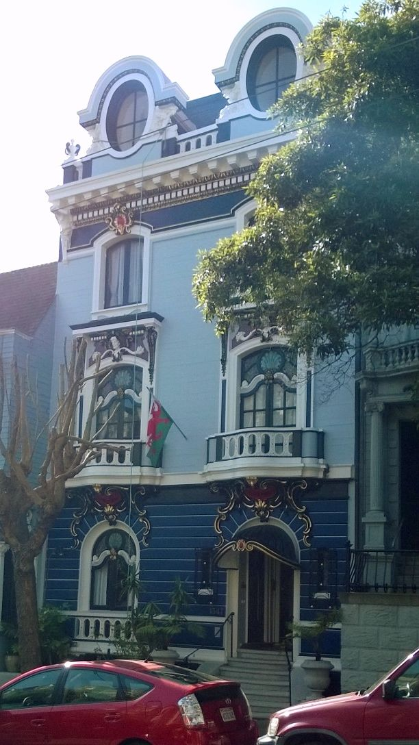 House in Haight-Ashbury district, San Francisco