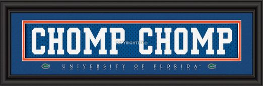 College Team Slogan Jersey Nameplate Framed Picture
