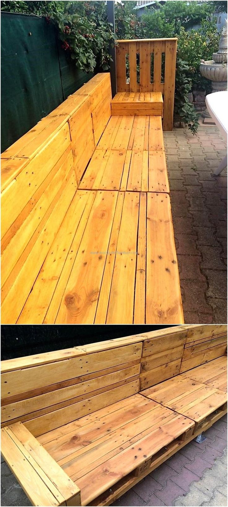 pallet seating idea for garden