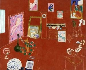 Matisse's Red Studio of 1911: it once hung in Soho's legendary Gargoyle club, but was sold in 1942 by David Tennant and acquired by the Museum of Modern Art, New York, in 1949 (Mrs Simon Guggenheim Fund)