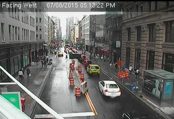 Webcam Broadway @ Rue Chambers - Caméra de circulation de la ville de New York...