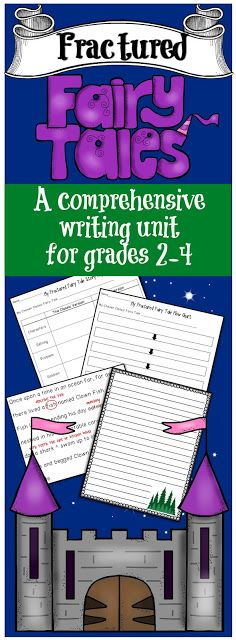 COMPLETE Fractured Fairy Tales Writing Unit for grades 2-4! Includes the entire writing process. One of my top sellers!