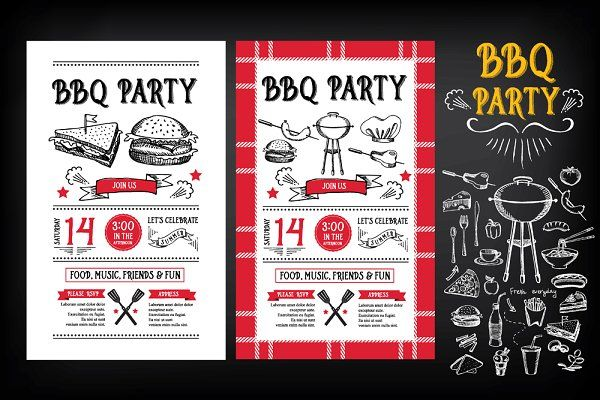 BBQ Party Invitation By BarcelonaShop On Creativemarket