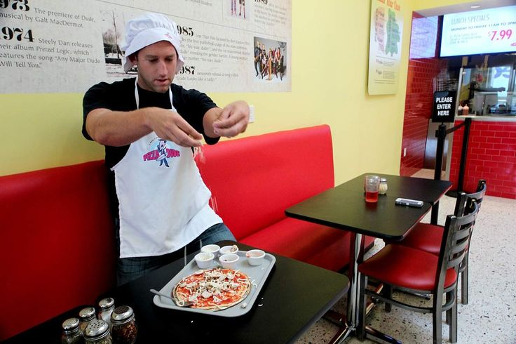 Thrillist visiting & experiencing the Kramer Experience @ Pizza Dude with owner, Justin Gould