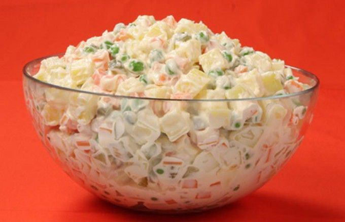 Domácí majonézový salát