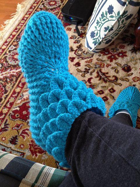 Adult Crocodile Stitch Slippers Free Knitting Patterns Patterns Kid