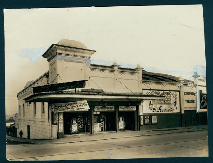 DESCRIPTION: Street view of Stanmore Theatre, Stanmore. PERIOD_DATE: ca. 1936