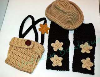 Busting Stitches: Cowboy Set  Free Crochet pattern for baby Chaps and diaper cover.  too cute!