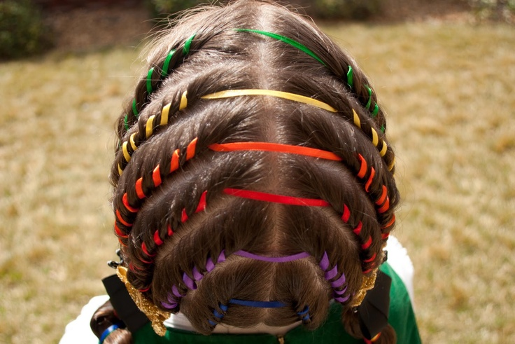 Princess Piggies: Irish Rainbow: Princess, Awesome Hairstyles, Hair Styles, Patrick Hairstyles, Daughters, Long Hair Read, Blog, Crystals Hairstyles, Cute Hairstyles