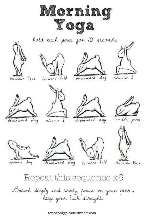 Yoga bunny morning routine