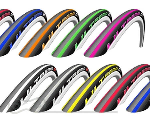 SCHWALBE Ultremo ZX V-Guard 700 x 23C (23-622) Green stripes  http://www.schwalbetires.com/bike_tires/racing_tires/ultremo_zx