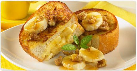 Burnbrae Farms : Recipe Nest : Banana Nut Stuffed French Toast