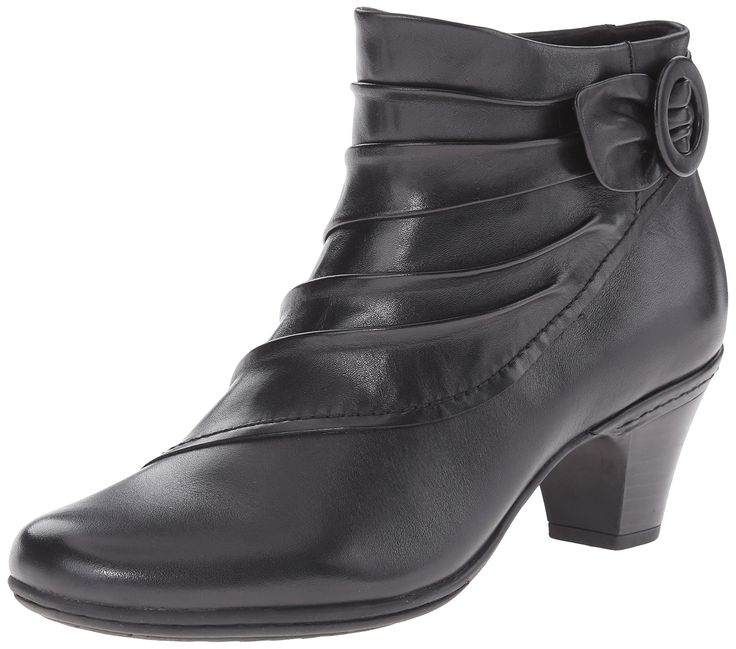 Rockport Cobb Hill Women's Sabrina Boot, Black, 8.5 M US. Extended sizes and widths offered. The latest fashionable looks on a comfortable heel height. Comfort ethylene vinyl acetate insole with extra cushioning. Soft leather uppers. Heel height 2.