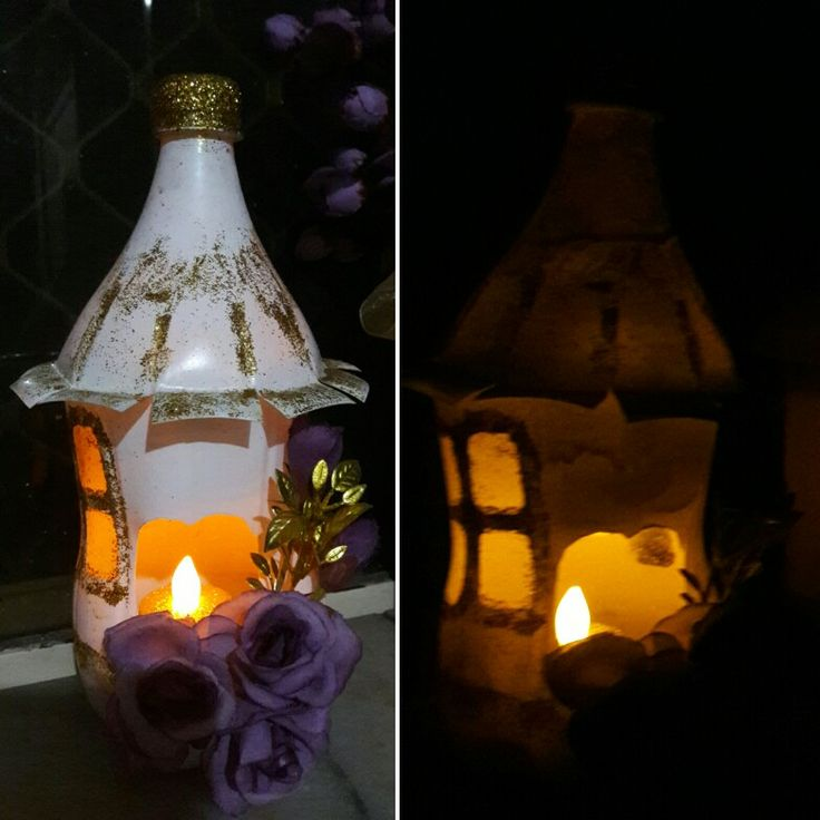 Fairy house Night light! Awsome best ou of waste project! Watch the tutorial by #ChaloGharSajaayen here : https://m.facebook.com/story.php?story_fbid=1783152215289935&id=1633381476933677
